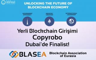 Copyrobo projemiz Dubai'de Finalist!
